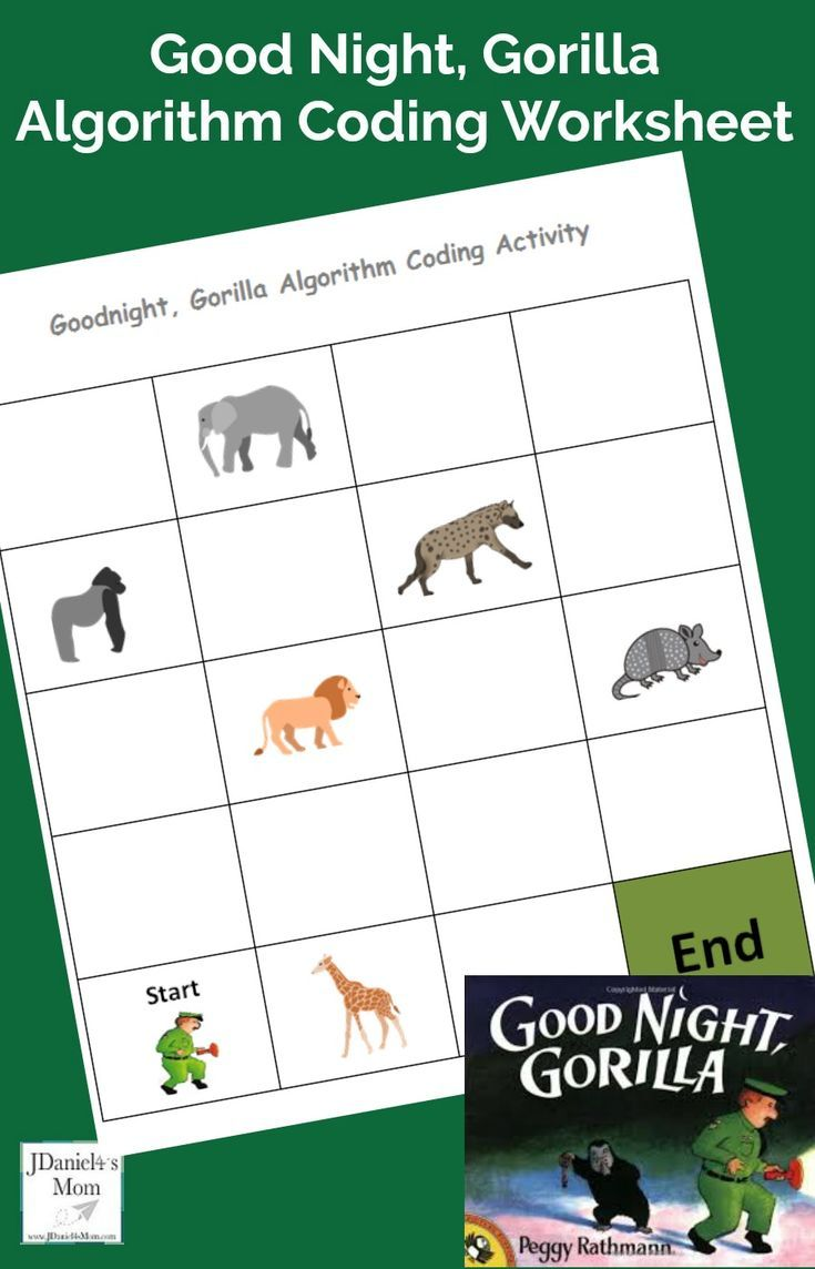 Good Night Gorilla Algorithm Coding Worksheet Coding For Kids Character Education Activities Coding [ 1144 x 735 Pixel ]