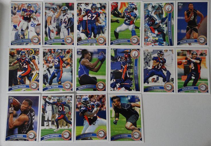 2011 Topps Denver Broncos Team Set of 16 Football Cards #DenverBroncos