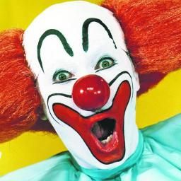Image result for scary clown face