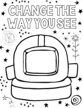 """""""Wonder"""" Outer Space Coloring Pages (KINDNESS themed"""