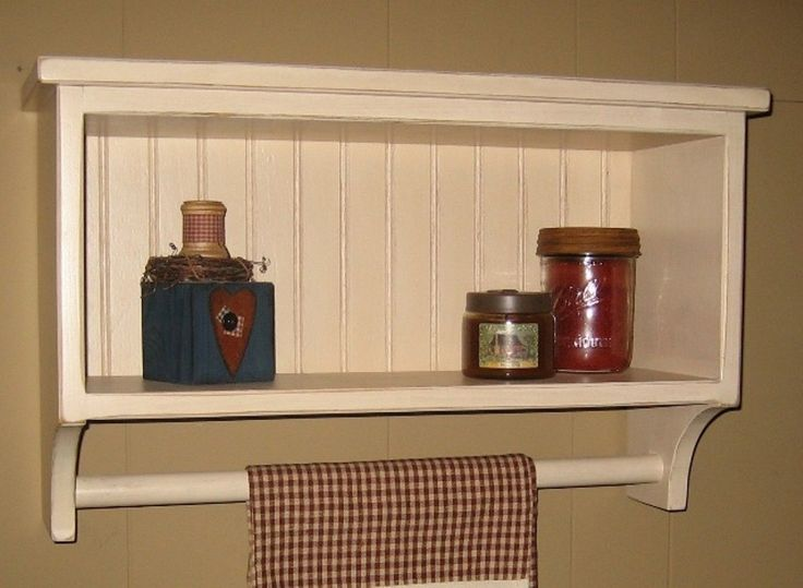 Primitive Bathroom Shelves | PRIMITIVE COUNTRY BATHROOM TOWEL RACK COLOR CHOICE by jwpw1000