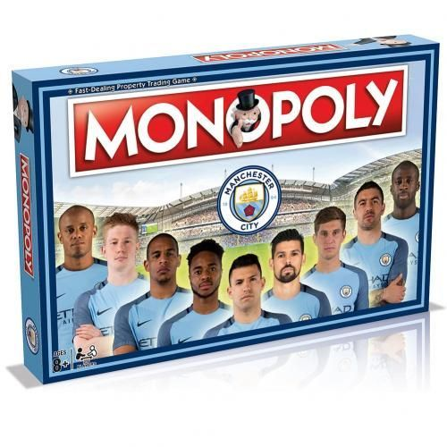 Manchester City Edition of the classic board game Monopoly featuring past and present players.  FREE DELIVERY on all of our merchandise