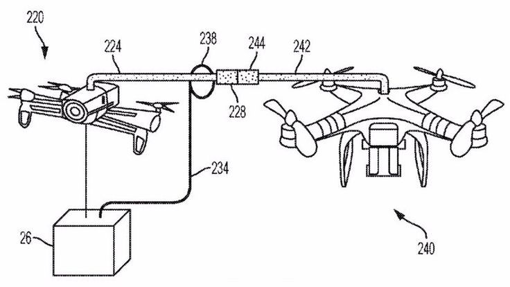 5/1/17 IBM patent outlines mid-air drone-to-drone cargo transfers  IBM's patent details how packages could be transferred between drones in mid air