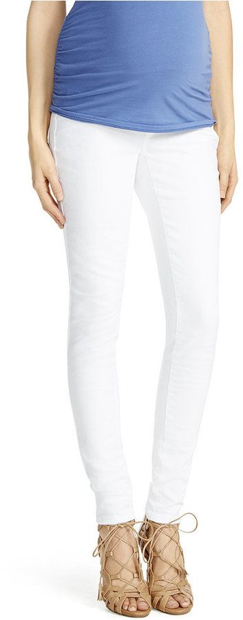 Jessica Simpson Maternity Skinny Jeans, White Wash