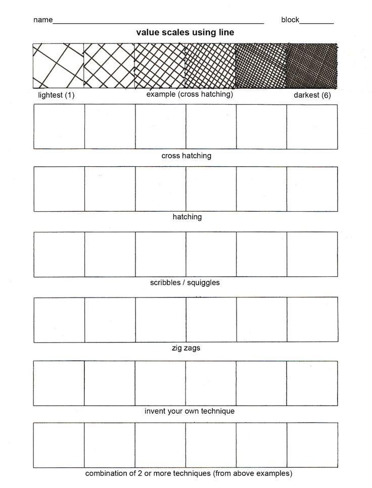 value worksheet