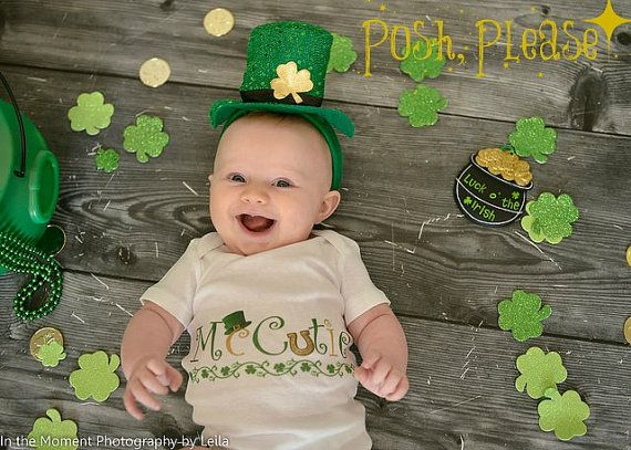 St. Patrick's Day Outfit McCutie Saint Patricks Day by PoshPlease #McCutie #saint #patricks #day #saint #pattys #patrick #irish #march17 #baby #newborn #outfit