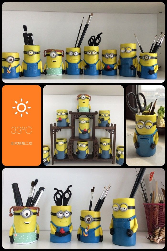 minions - can make from toilet paper rolls