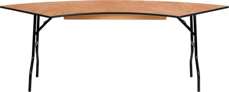7.25 ft. x 2.5 ft. Serpentine Wood Folding Banquet Table