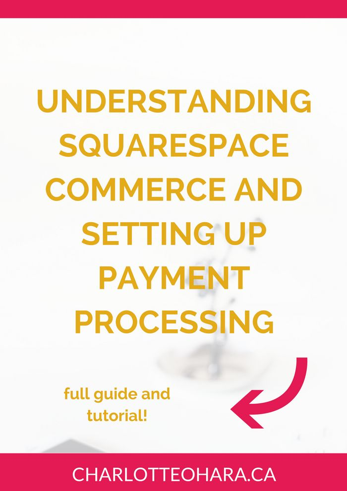 Everything you need to know about Squarespace commerce and setting up payment processing | Setting up a shop in Squarespace is a great way to grow your business and support your website! If you want to learn what's involved in setting up a Squarespace commerce shop and how to do it, click through to read the article and view the tutorial or Pin and save for later!