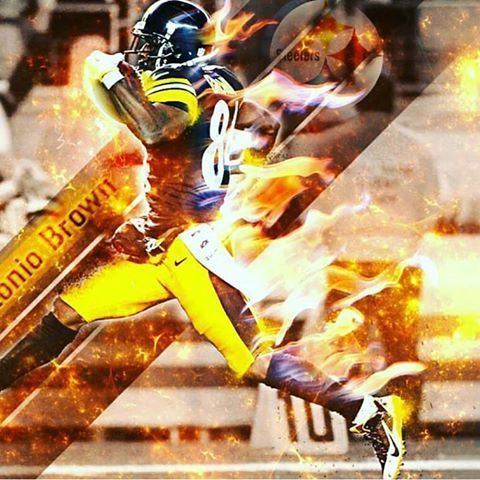 With The #1 Pick In The 2016 NFL Fantasy Football Draft...I Select Antonio Brown! #swagger #antoniobrown #steelersnation #steelers #blackandyellow #terribletowel  #nfldaily #nfl #beastmode #lit #fire #pittsburgh #dope #tds #redzone #la #nyc #ny #tattoos