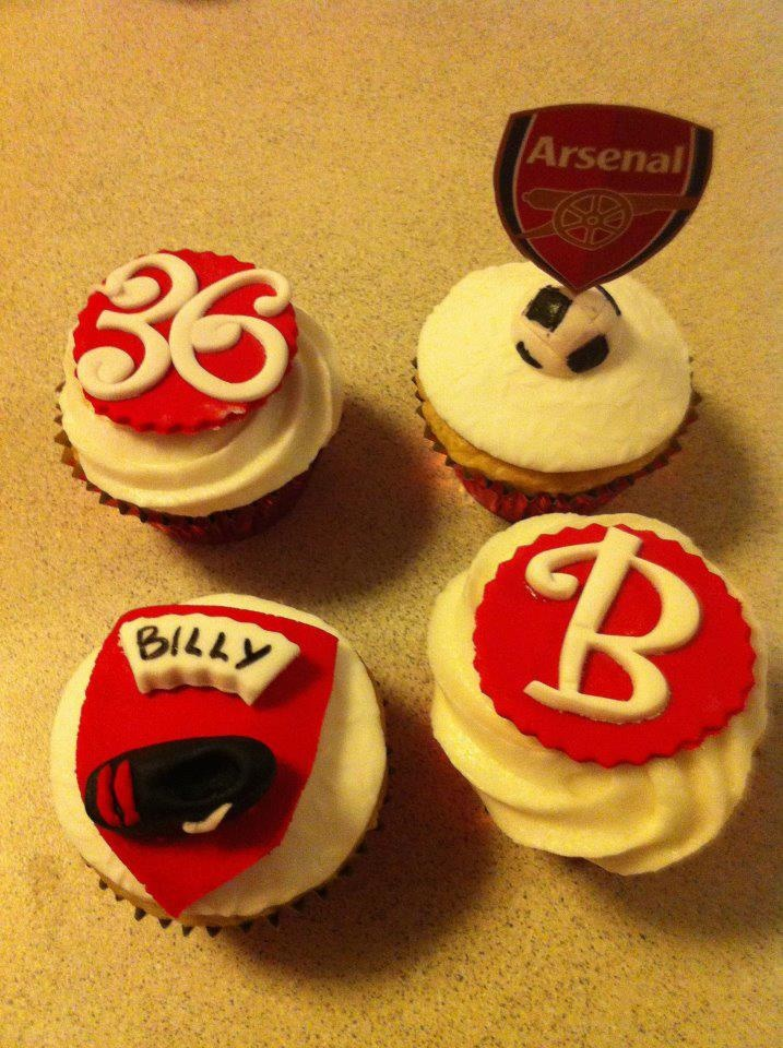 arsenal cupcakes