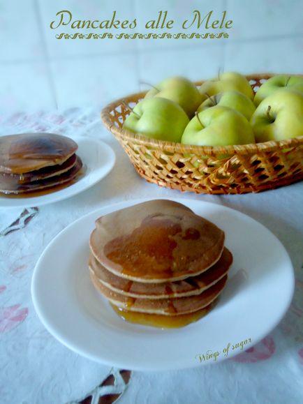 Pancakes di mele alla cannella ricetta semplice. Mele yogurt e cannella gli ingredienti per una ottima colazione - wings of sugar blog
