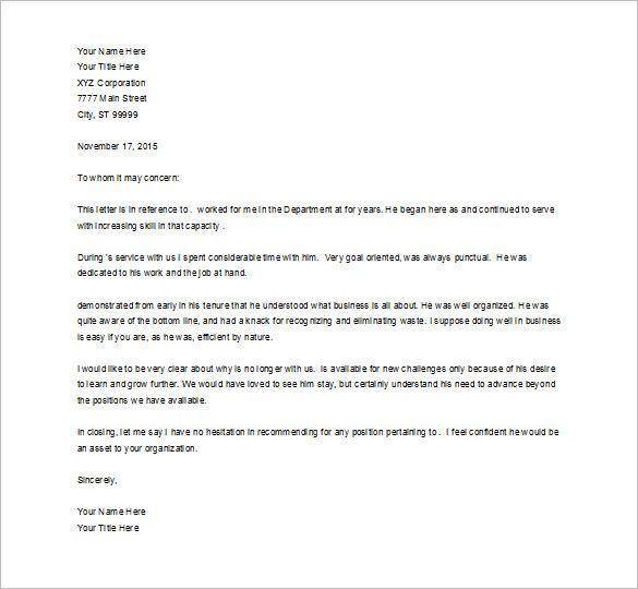 Recommendation Letter For Job template Pinterest Template - academic recommendation letter