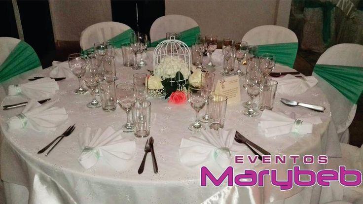 Decoración Vintage Verde Menta  www.eventosmarybeb.com info@eventosmarybeb.com