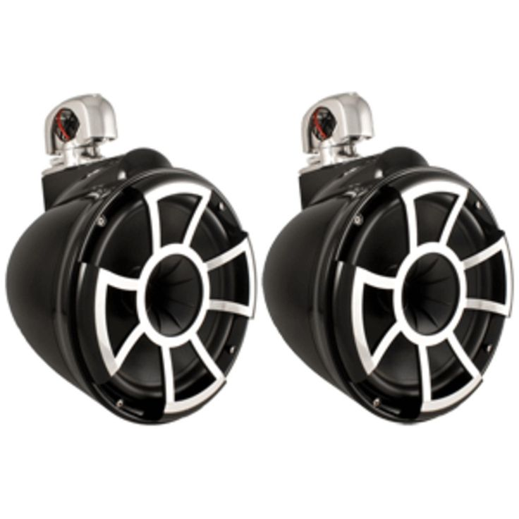 Wet Sounds REV10 10 Wakeboard Tower Speakers Pair w/Swivel Mount Hardware - Black