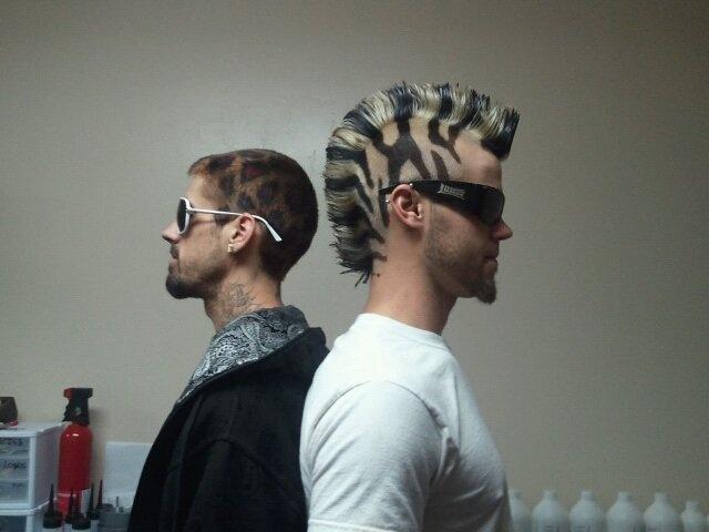 Hair Color Zebra And Leopard Print Creative Haircuts