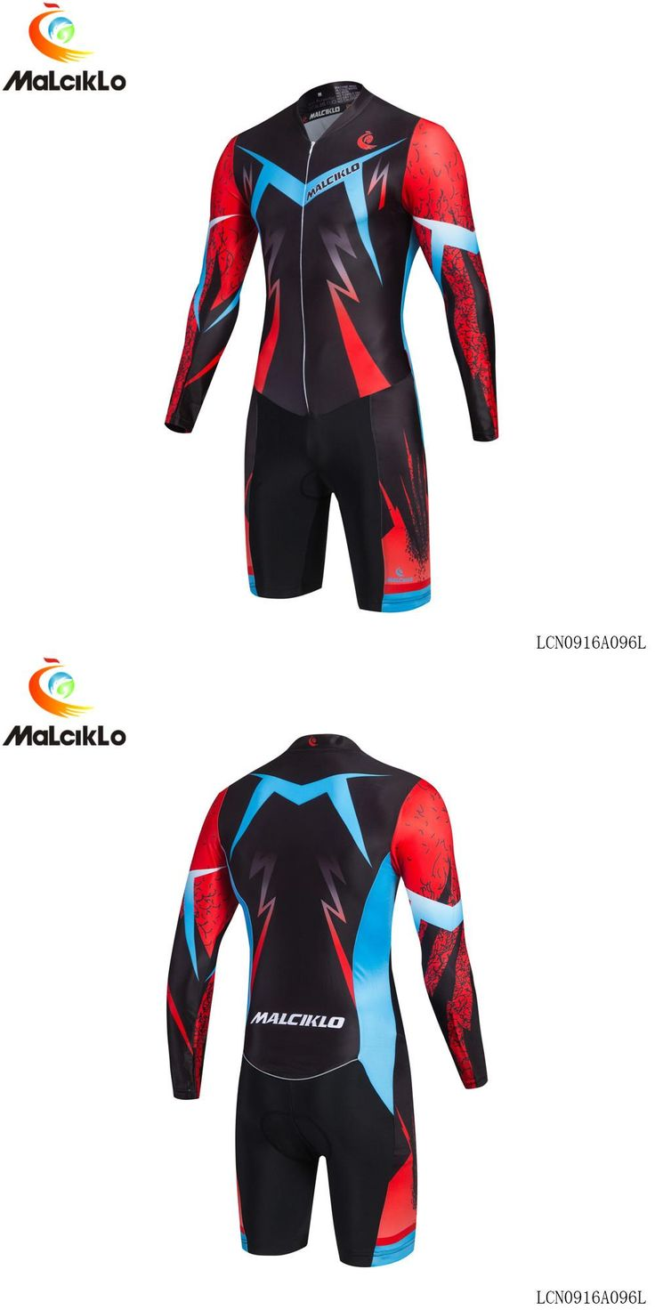 [Visit to Buy] 2017 new style MALCIKLO hombre cycling jersey long sleeve Cool lightning pattern triathlon skinsuit ropa maillot ciclismo jersey #Advertisement