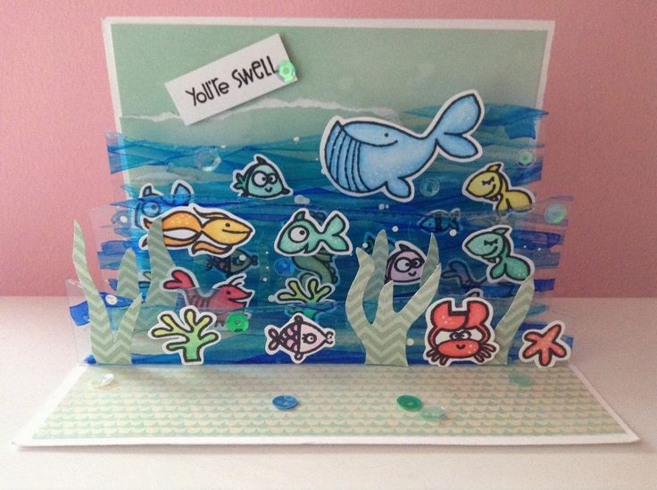 JennieMay Cards: Under the Sea Pop-Up Card