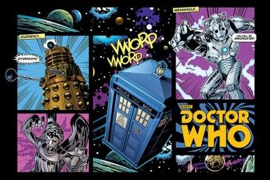 Doctor Who Komiks - plakat