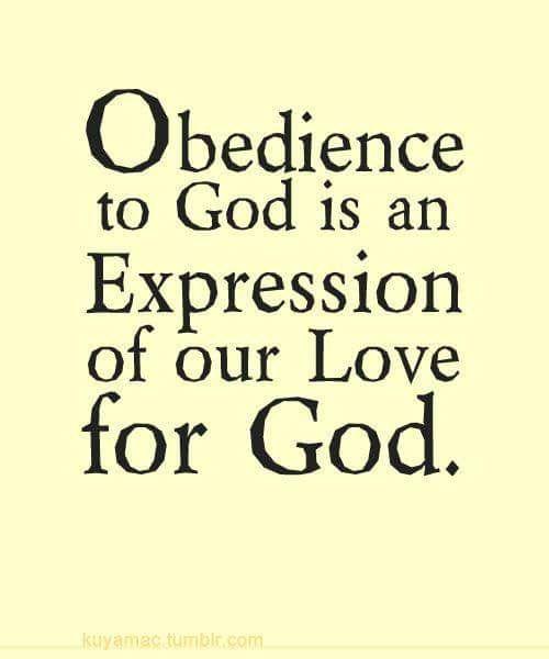 John 14:15 KJV If ye love me, keep my commandments.