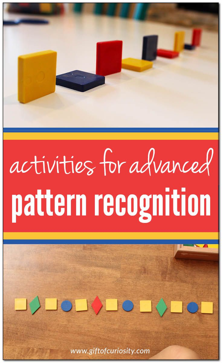 Activities that support advanced pattern recognition skills | Patterning for elementary grades || Gift of Curiosity