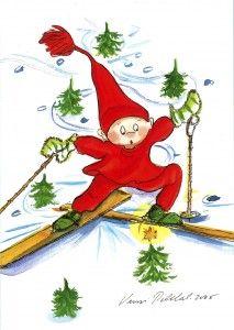 Skiing (Makes me smile.) by Virpi Pekkala, Finland
