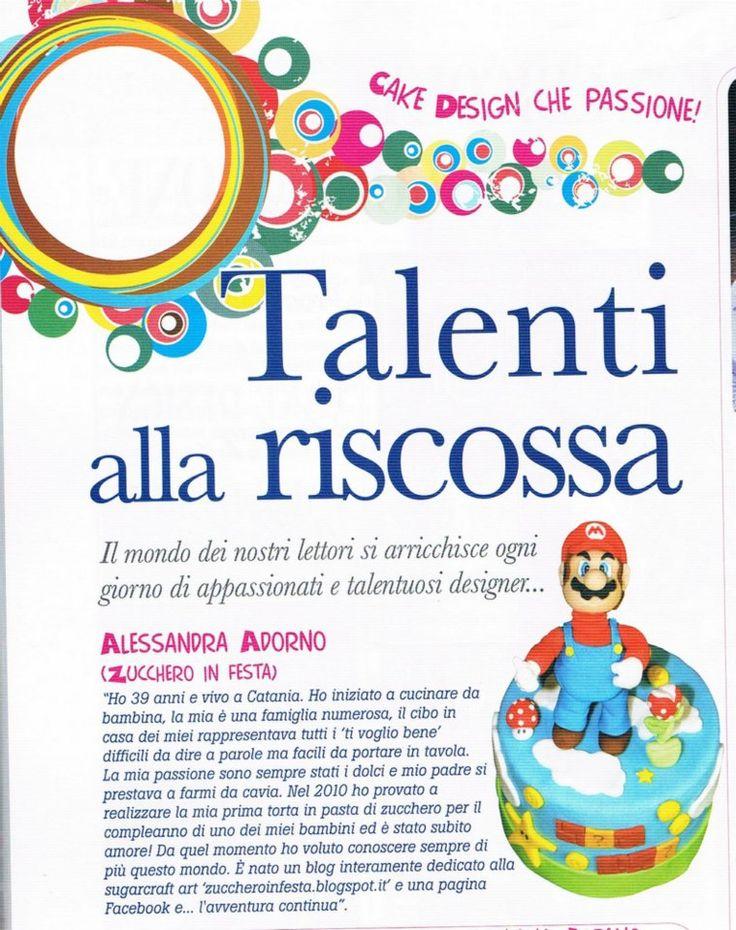 Cake design, la rivista più letta per gli amanti del cake decorating, nella rubrica dedicata ai talenti alla riscossa :)
