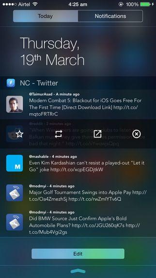 NC - Twitter Widget for Notification Center manjunath Phulari 제작