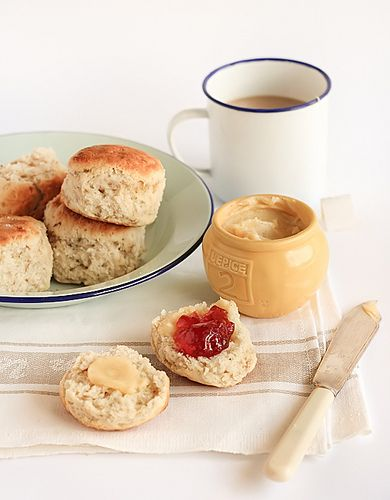 Banana Scones with Whipped Honey Butter by raspberri cupcakes, via Flickr