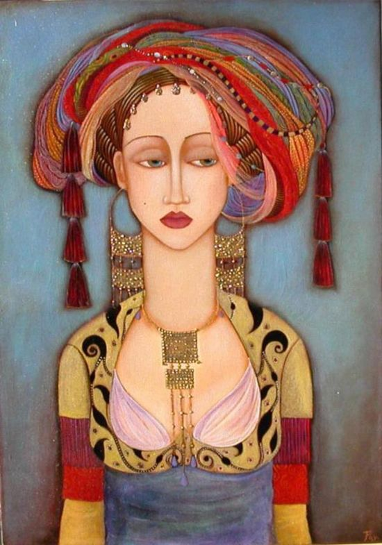 portrait by Faiza Maghni