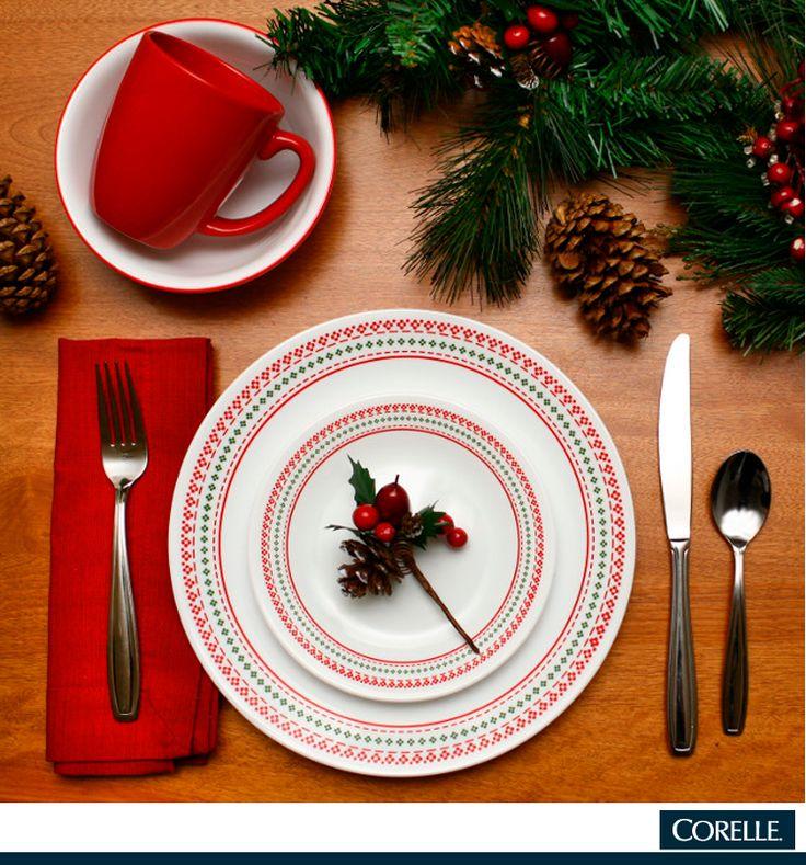 Esta Navidad, disfruta de la calidad y belleza de CORELLE en tu mesa. #WKMéxico #WK #WorldKitchen #Vajilla #Navidad #Navideña