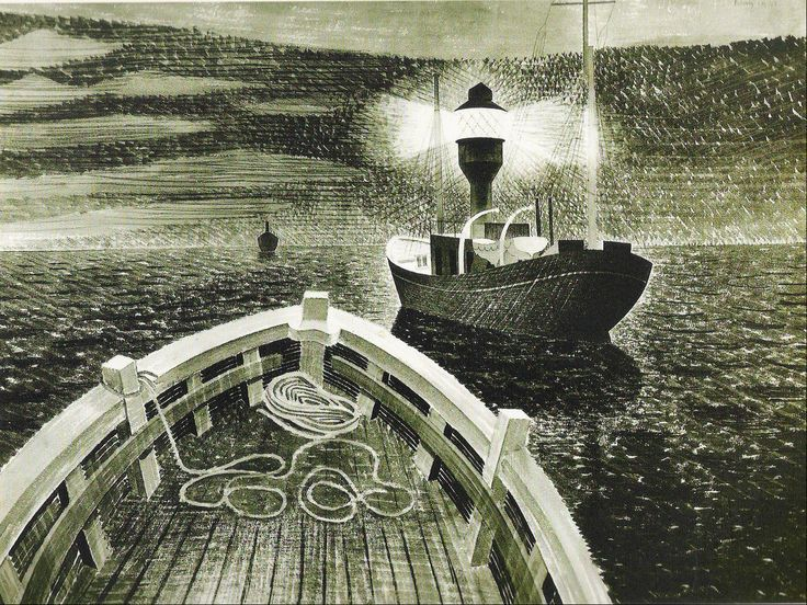 Painting by Eric Ravilious  James Russell: Richter's Skater: Paintings Lost and Found