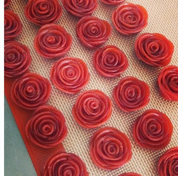 flores de goiabada para doces