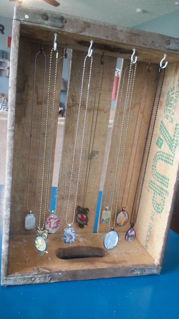5ba21be82 Black Jewelry Holder   Stand Up Jewelry Organizer   How To Make Jewellery  Organizer At Home