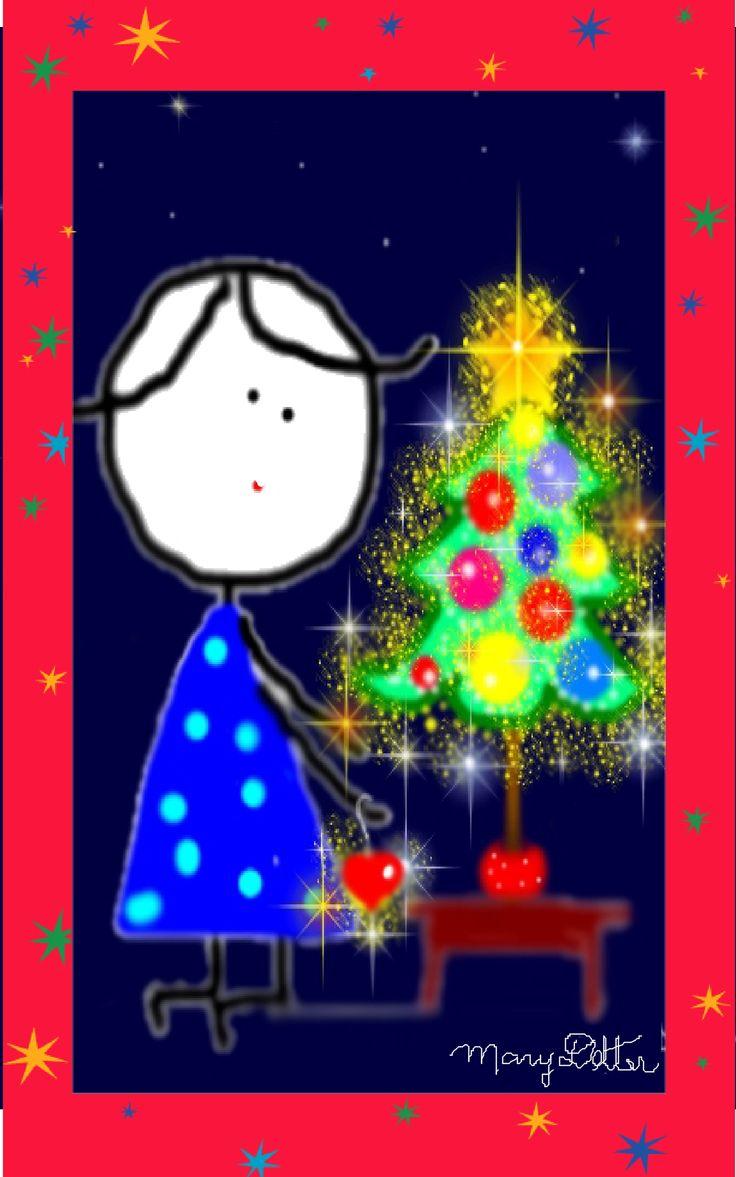 cartões de Natal ou imã de geladeira <3 by Mary Detter