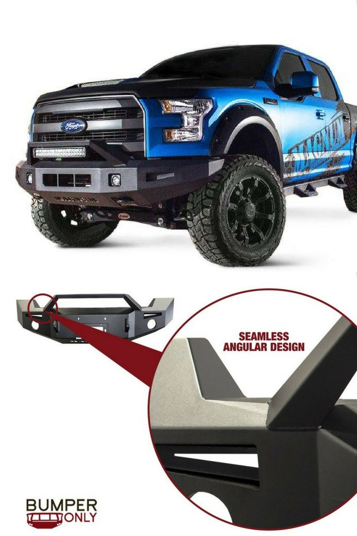 Ford f 150 lift kits 2016 car release date - Ici Fbm84fdn Rt Non Winch Front Bumper With Square Light Holes 2015 2017