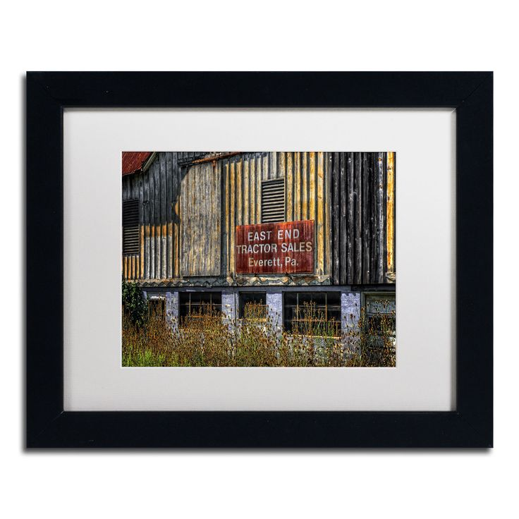 Lois Bryan 'East End Tractor Sales' Framed Matted Art