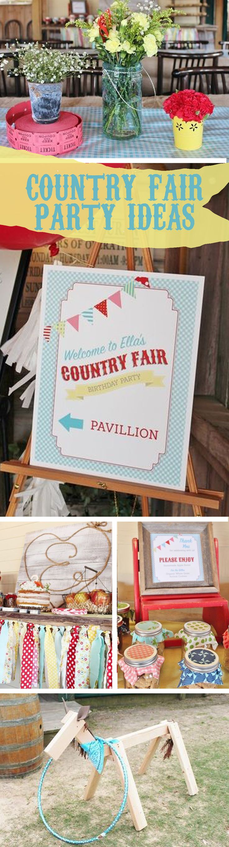 Country Fair Party, Country Fair Party Ideas, Country Fair Party Theme Ideas