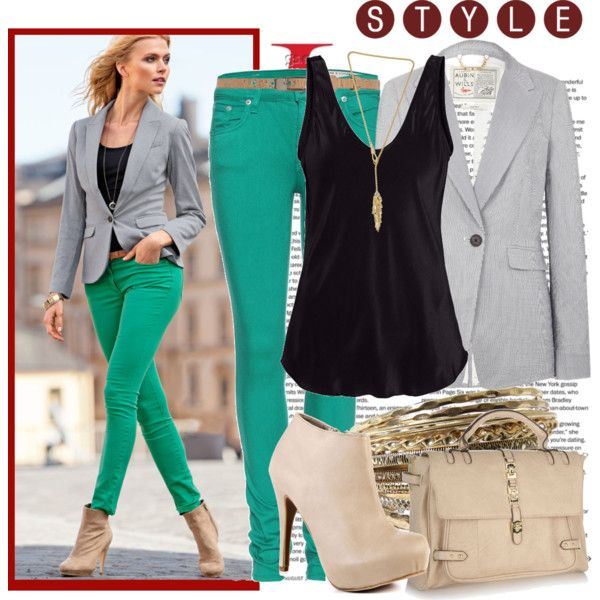 teal jeans black shirt: Jacket, Casual Outfit, Fashion Ideas, Green Skinny, Jeans Black, Clothes Accessories, Teal Jeans