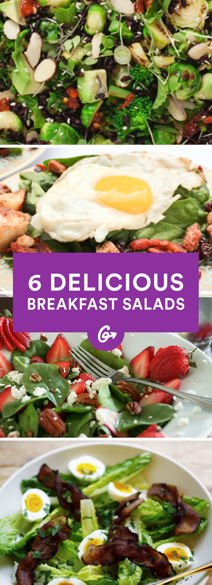 Salad for breakfast? Believe it. These six recipes will have you rethinking your morning routine #breakfast #salads http://greatist.com/eat/healthy-breakfast-salad-recipes