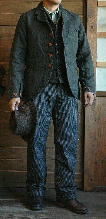Sack Coat, Faro Vest, Covert Stripe Pants & Road Champs