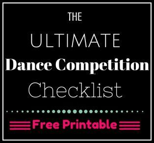 Be sure to print out this Dance Competition checklist before your next competition, from Your Daily Dance: