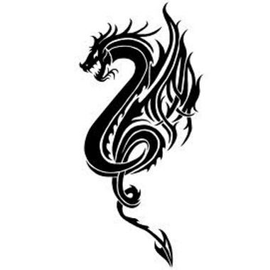 Tatouage dragon ailes de feu