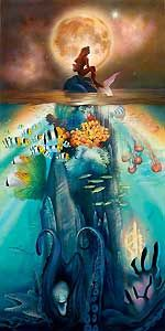 The Little Mermaid - Fathoms Below - John Rowe - World-Wide-Art.com - $595.00 #Disney #JohnRowe