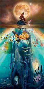 The Little Mermaid - Fathoms Below - John Rowe - World-Wide-Art.com - $595.00 #Disney #JohnRowe