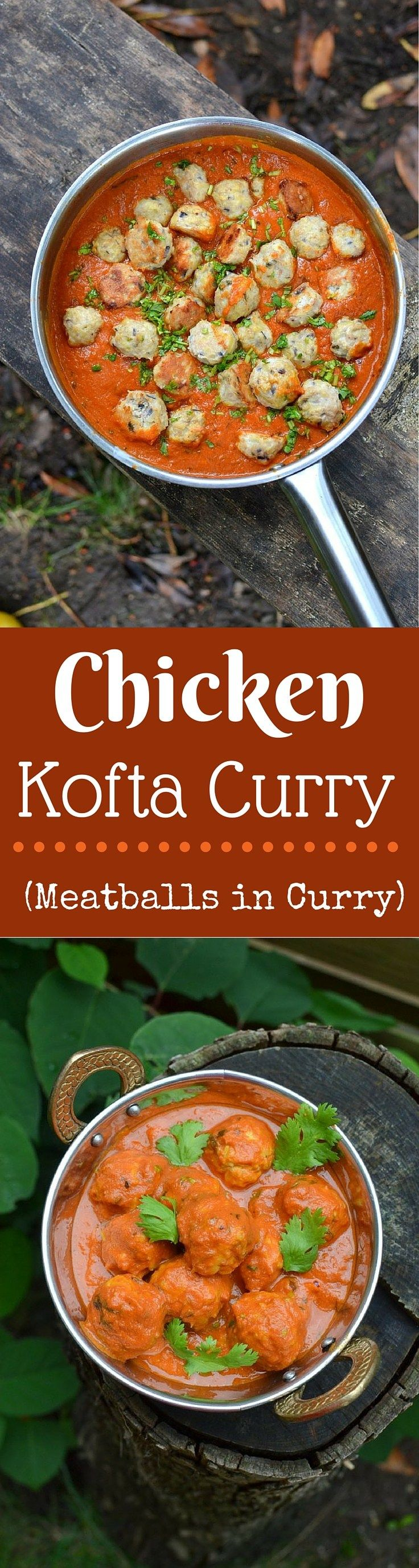 Murgh Kofta Curry: This is one perfectly indulgent curry of Succulent Chicken Meatballs in a delicate tomato and yogurt based gravy! (Chicken Kofta Curry)