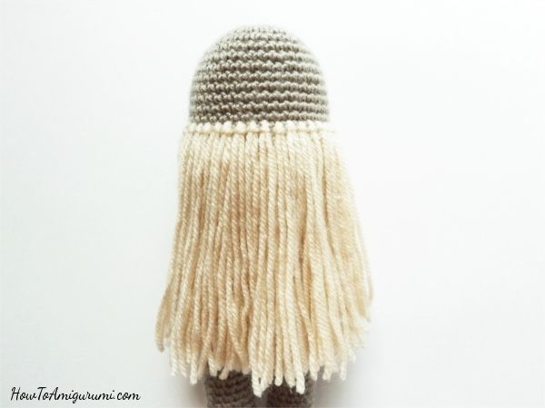 How to add Yarn Hair to Amigurumi Crochet Dolls with Hair Cap ... | 450x600