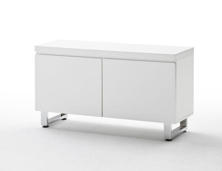 Kommode bianco i hochglanz weiß passend zum möbelprogramm bianco 1 x kommode mit 2 türen und