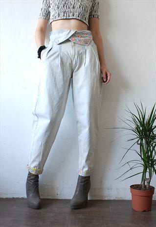 90s+baggy+bleached+acid+wash+peg+leg+jeans