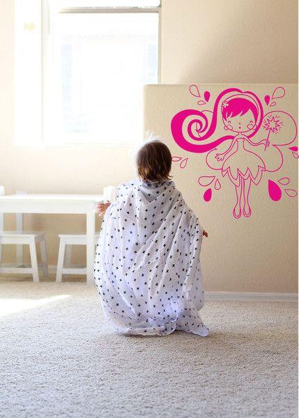 Superb Kinderzimmerdekoration Exklusive Wandtattoo Kinderzimmer Fee ein Designerst ck von taia s bei DaWanda